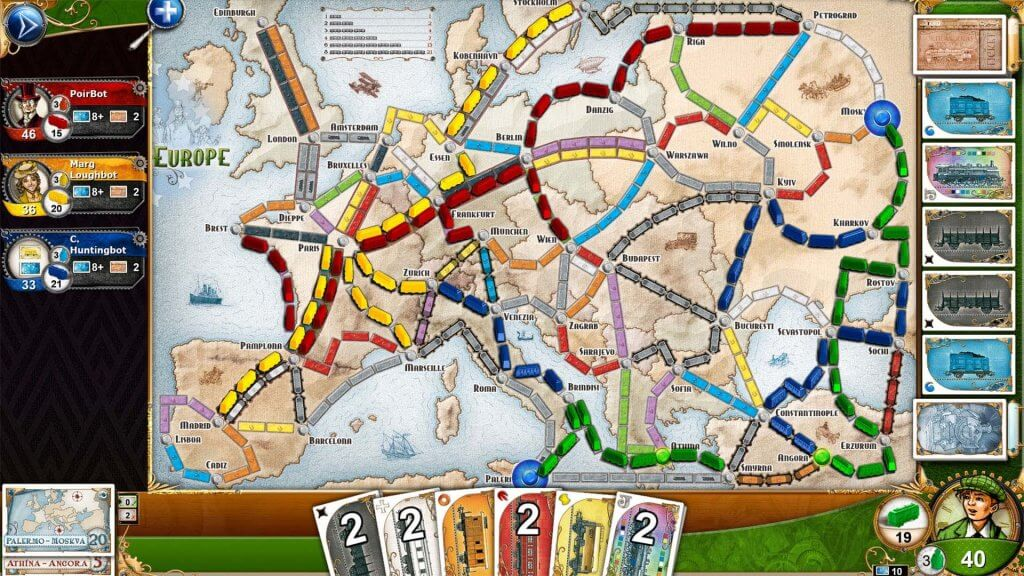 ticket to ride europe vr mod tabletop simulator