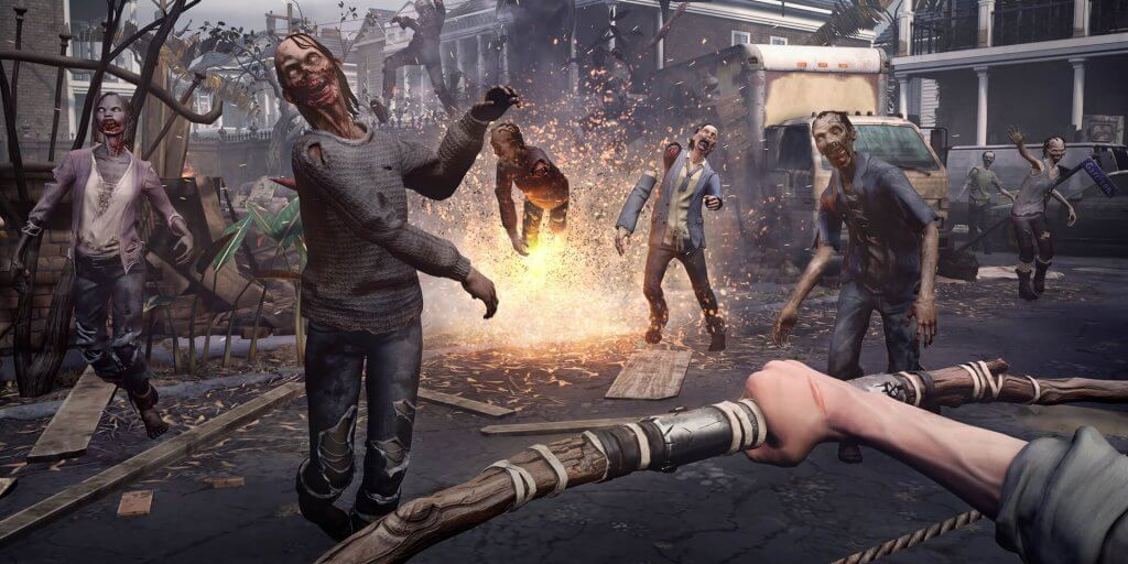 walking dead saints and sinners vr shooter game