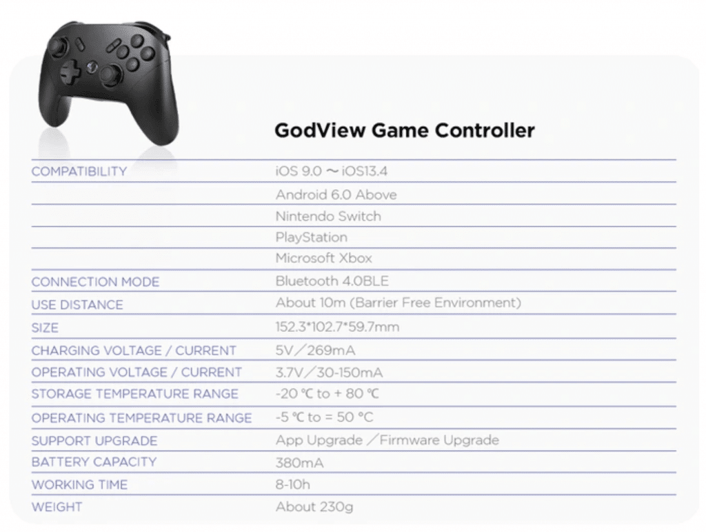 godview game controller
