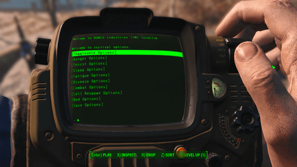 survival options fallout 4 vr mod