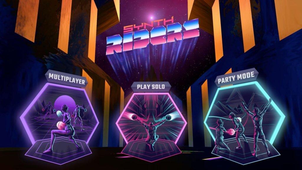 synth riders custom songs home screen menu