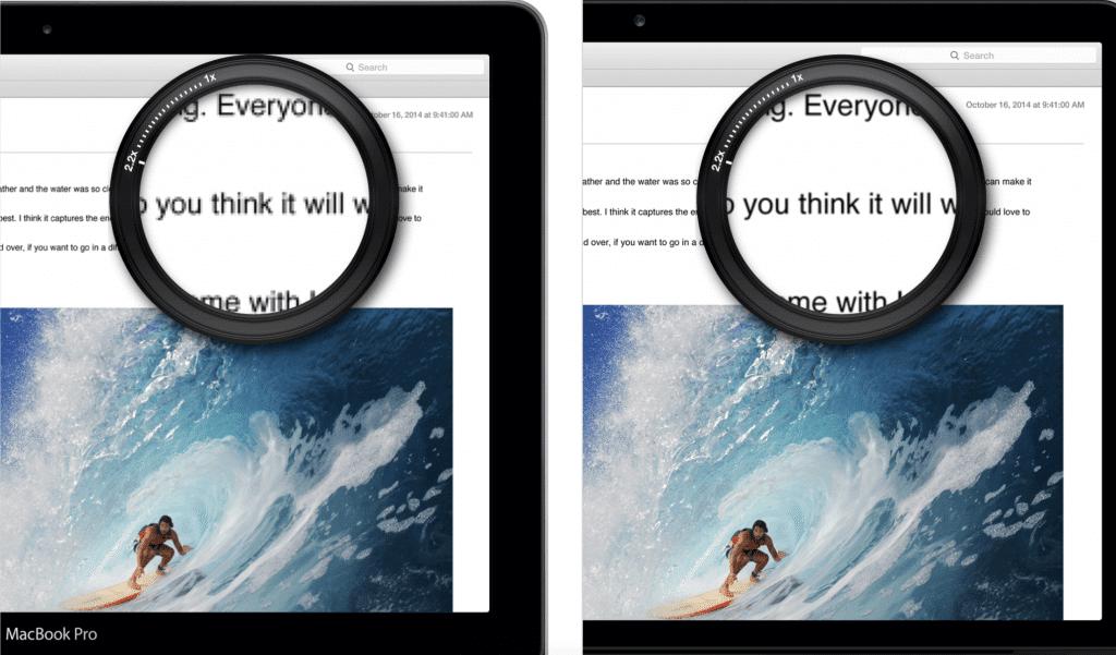 apple vr headset retina display