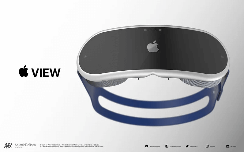 apple vr headset render 3