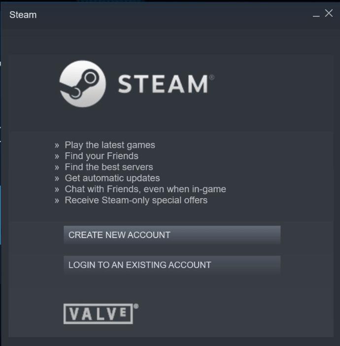 create a new steam account
