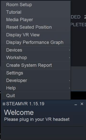 install steam vr custom settings