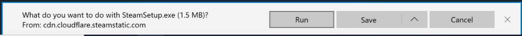 click on run button steam
