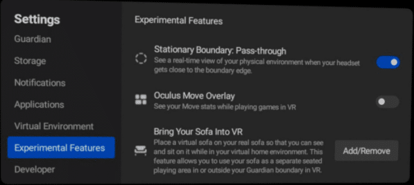 oculus quest v26 couch update