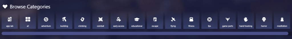 new sidequest design game categories