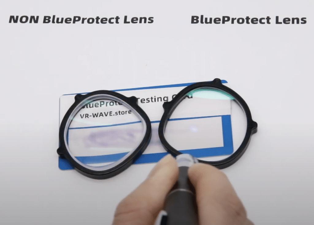 vr prescription lenses blue light filter