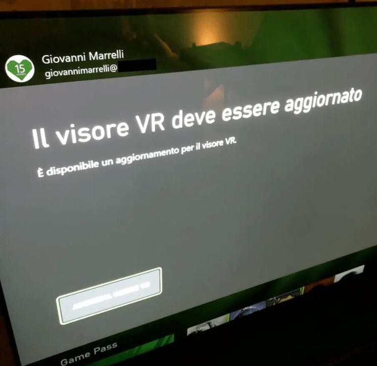 xbox vr error message