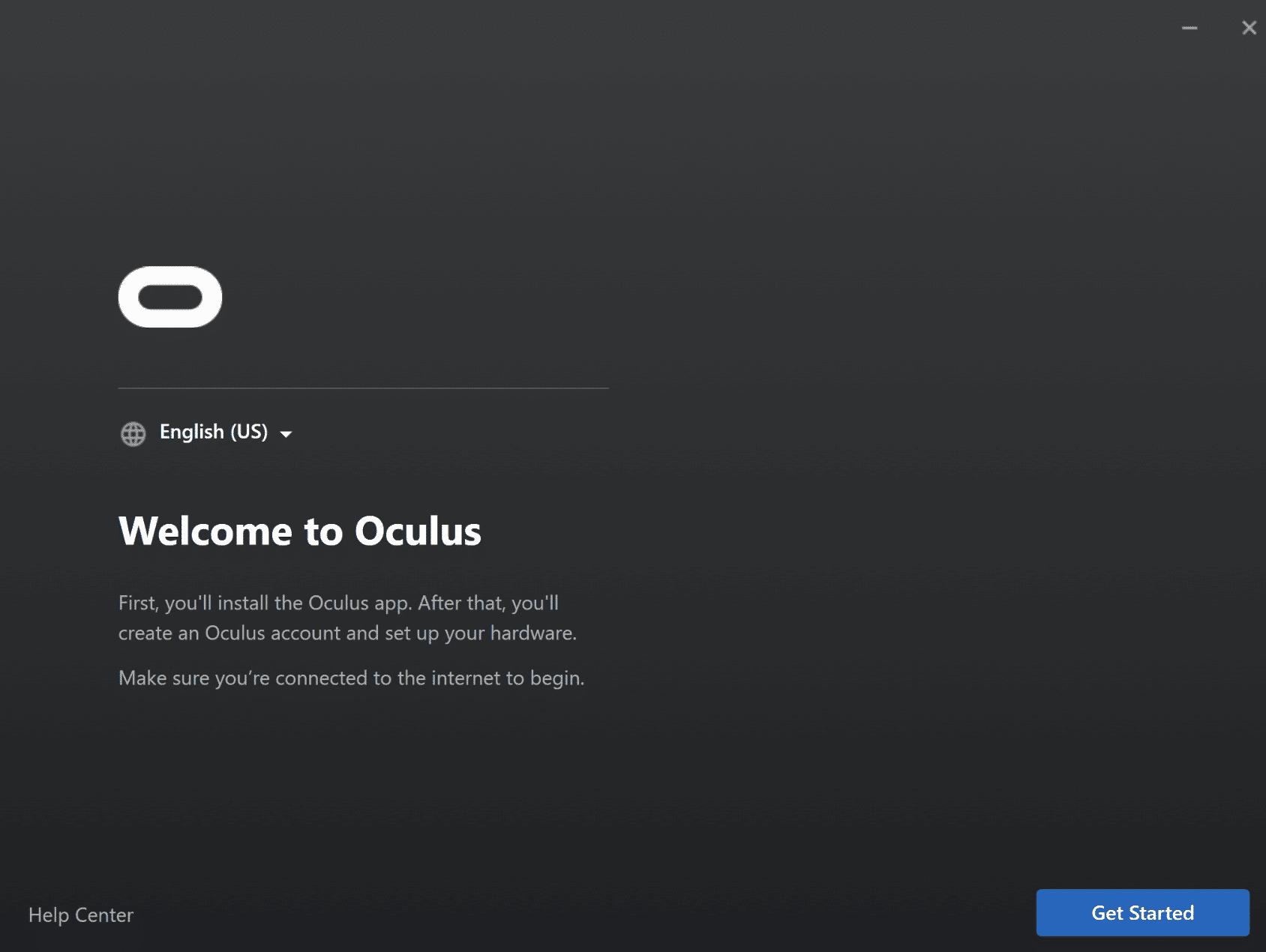 1 - install oculus pc software