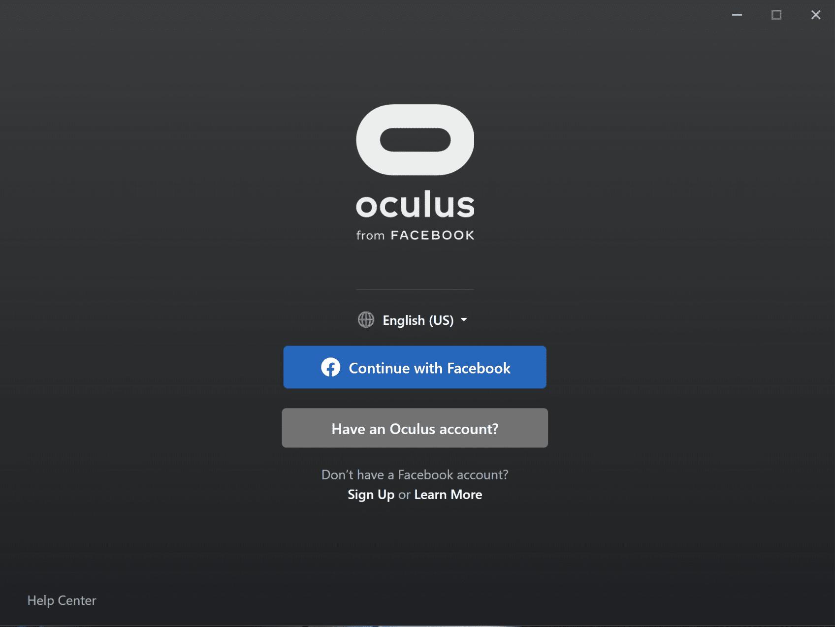 6 - oculus pc software home screen