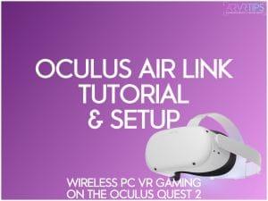 oculus air link setup on the oculus quest 2