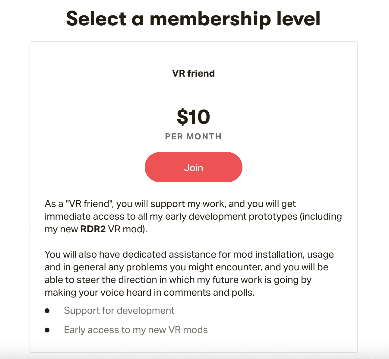 0- red dead redemption vr mod - patreon membership