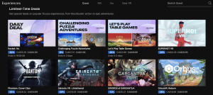oculus limited-time deals for the quest