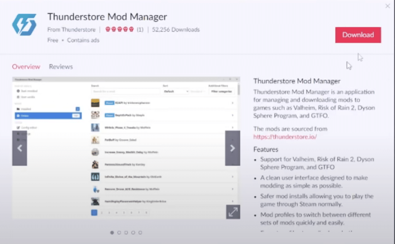 02 - install thunderstore mod manager