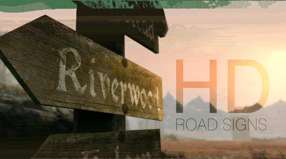 HD Road Signs Mod